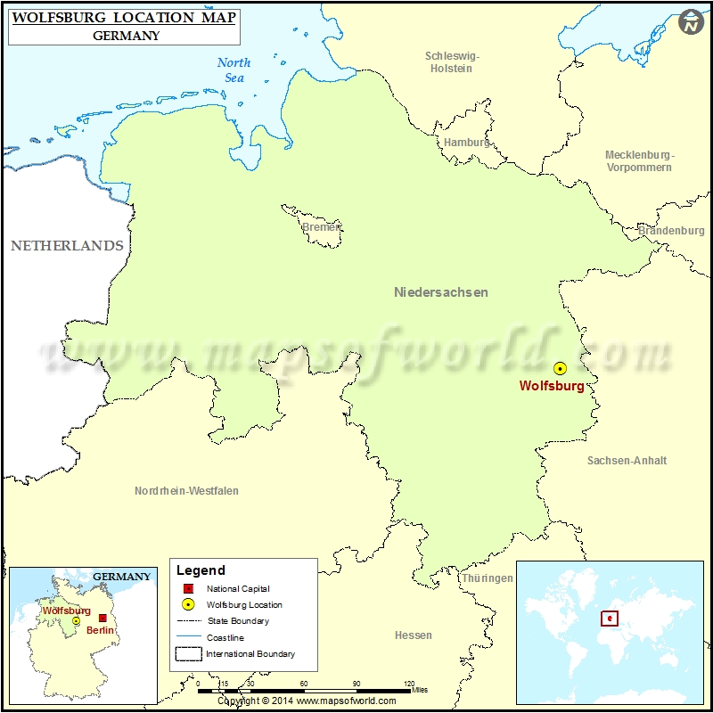 Where is Wolfsburg Location of Wolfsburg in Germany Map