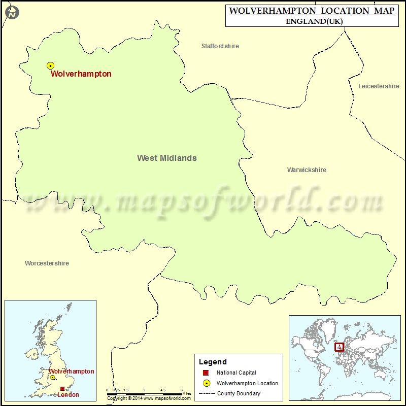 Where is Wolverhampton Location of Wolverhampton in England Map