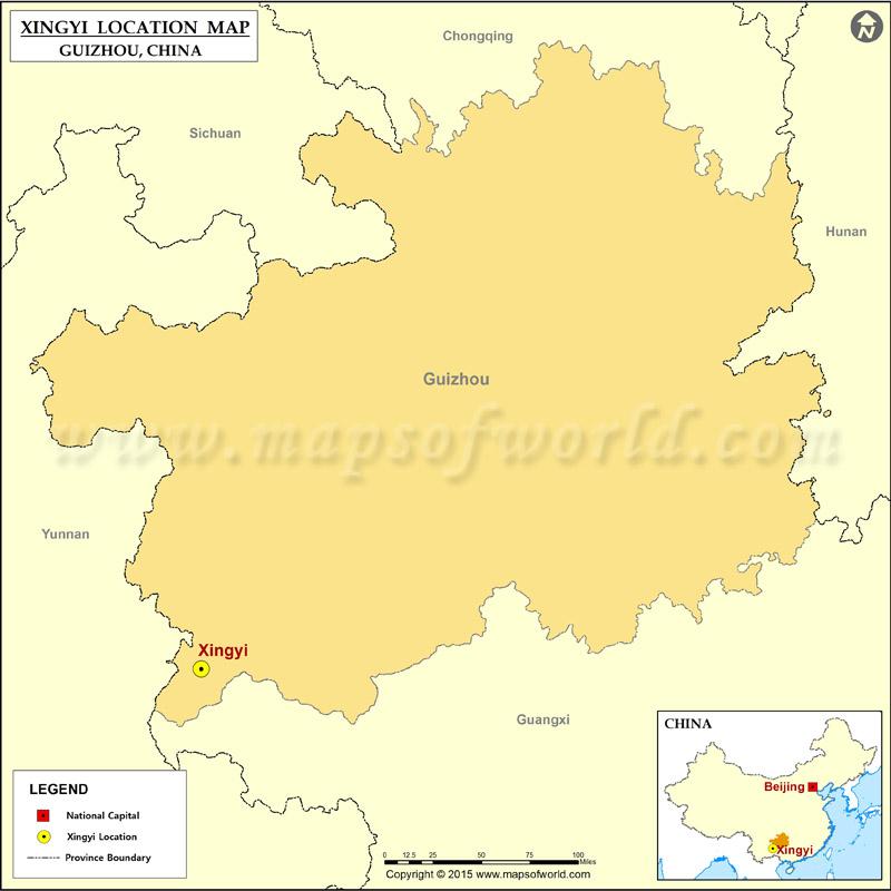 Where Is Xingyi Located Location Of Xingyi In China Map - Xingyi map