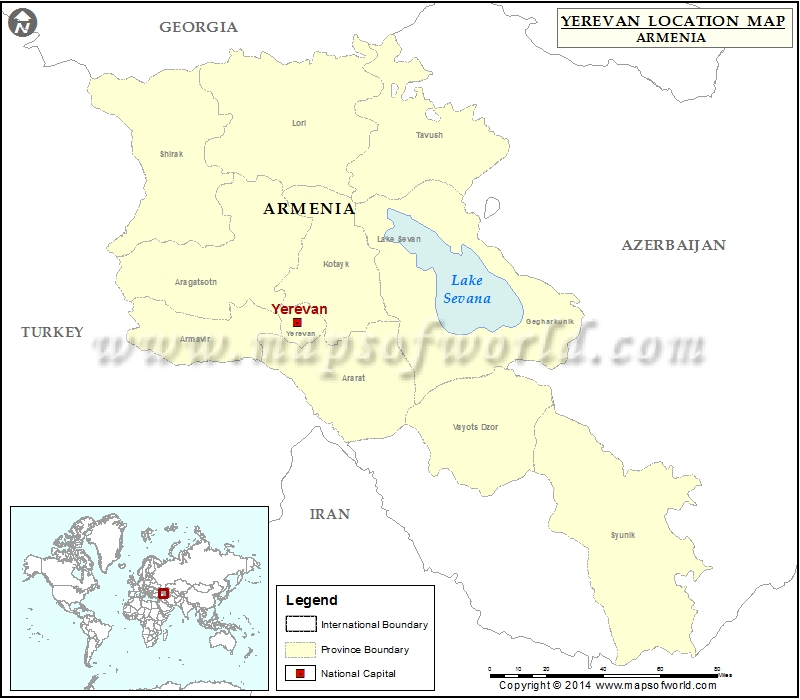 Where Is Yerevan Location Of Yerevan In Armenia Map - Yerevan georgia map
