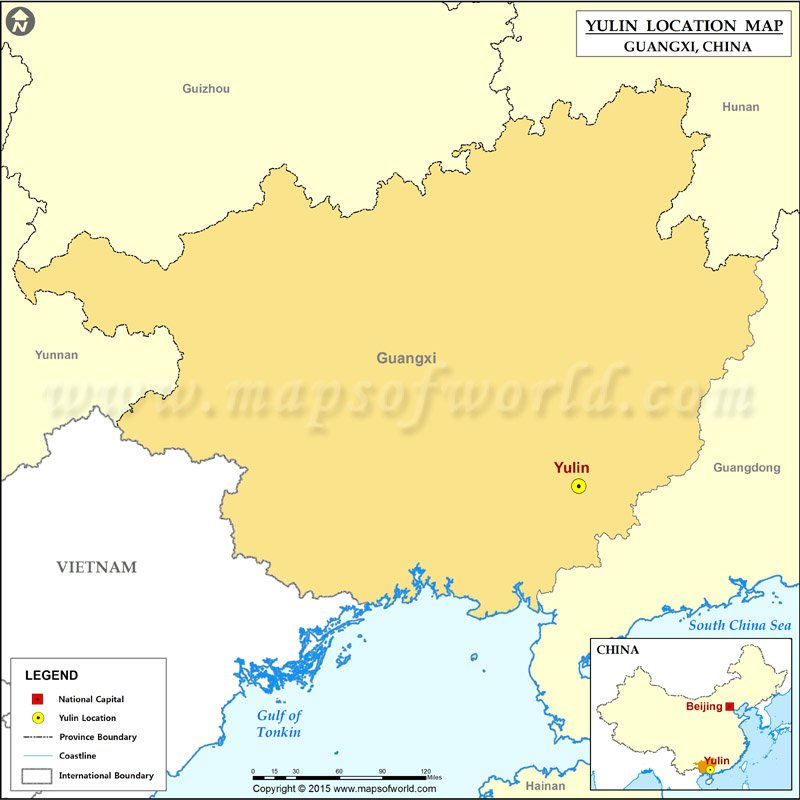 Where Is Yulin Located Location Of Yulin In China Map - Location of china