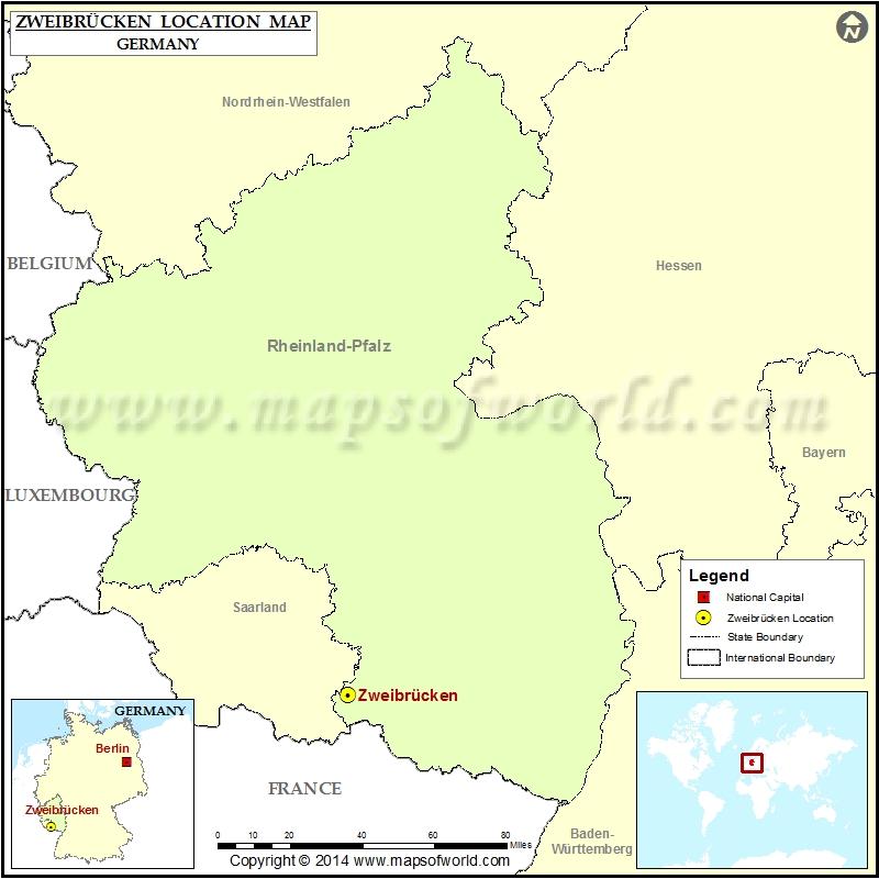 Where is Zweibrucken | Location of Zweibrucken in Germany Map