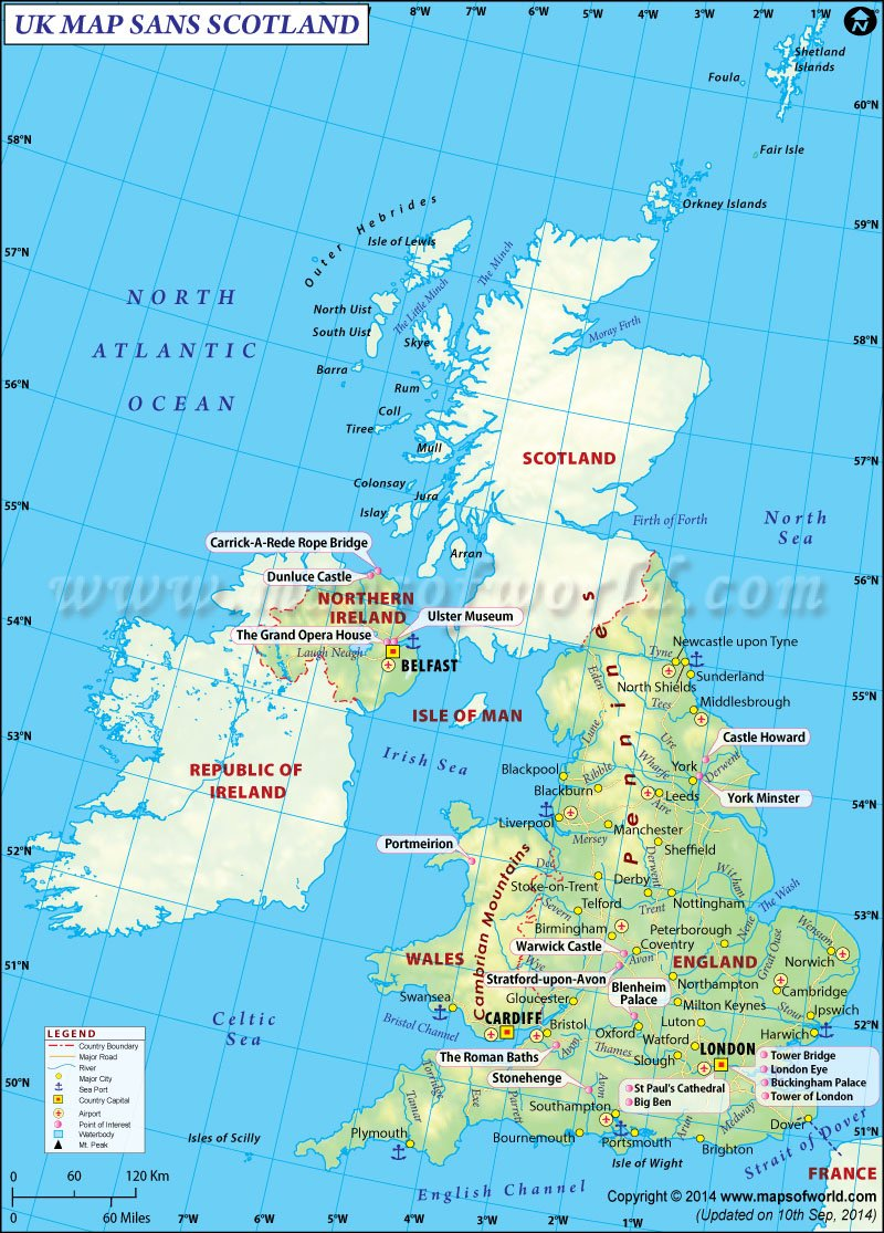 Map Of Uk And Scotland.Scottish Independence Referendum Find Uk Map Without Scotland
