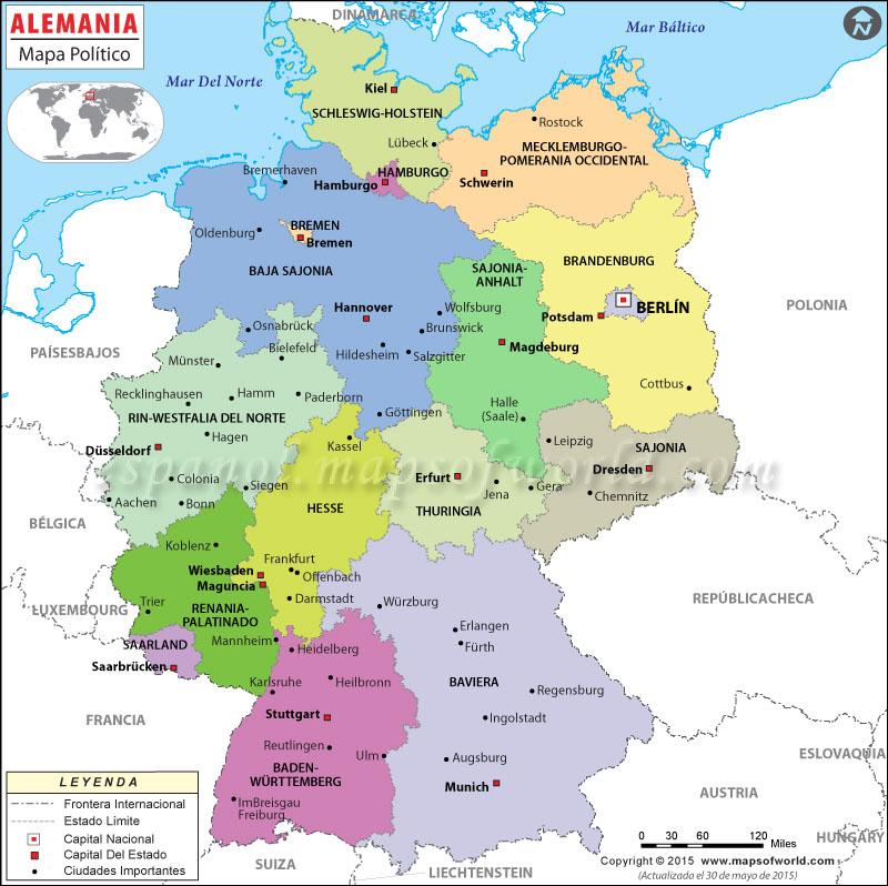 Mapa Politico De Alemania Actual.Mapa De Alemania Mapa Alemania