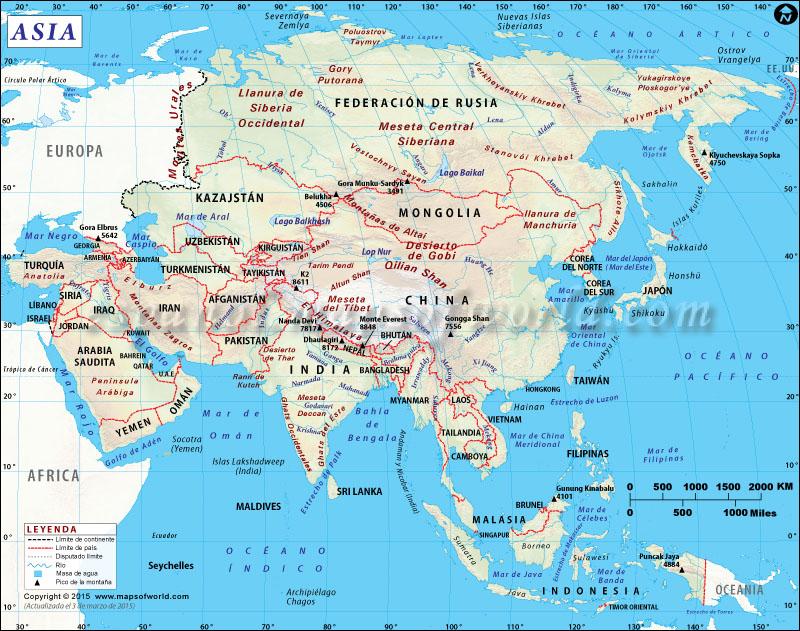 Mapa de Asia