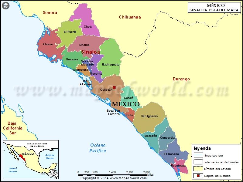 Mapa de Sinaloa