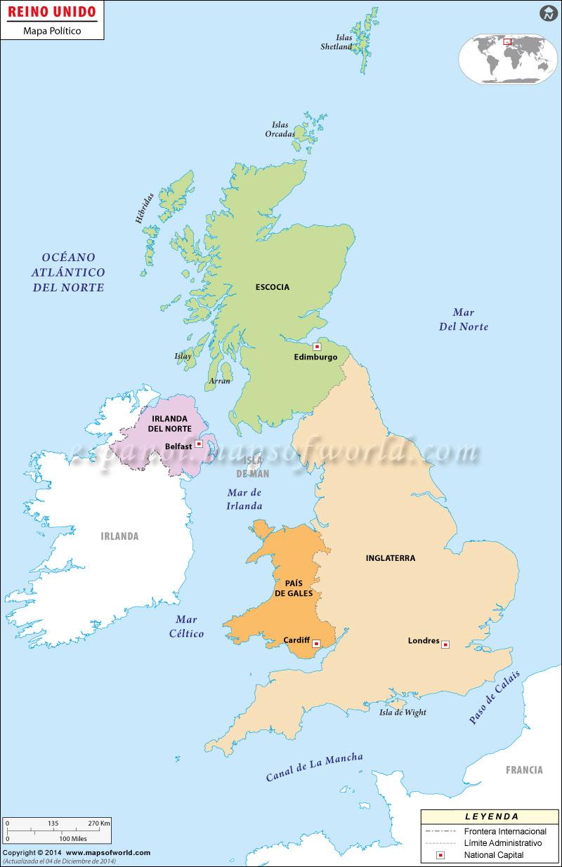 Mapa de Gran Bretana
