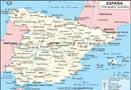 Mapa de España Ciudades