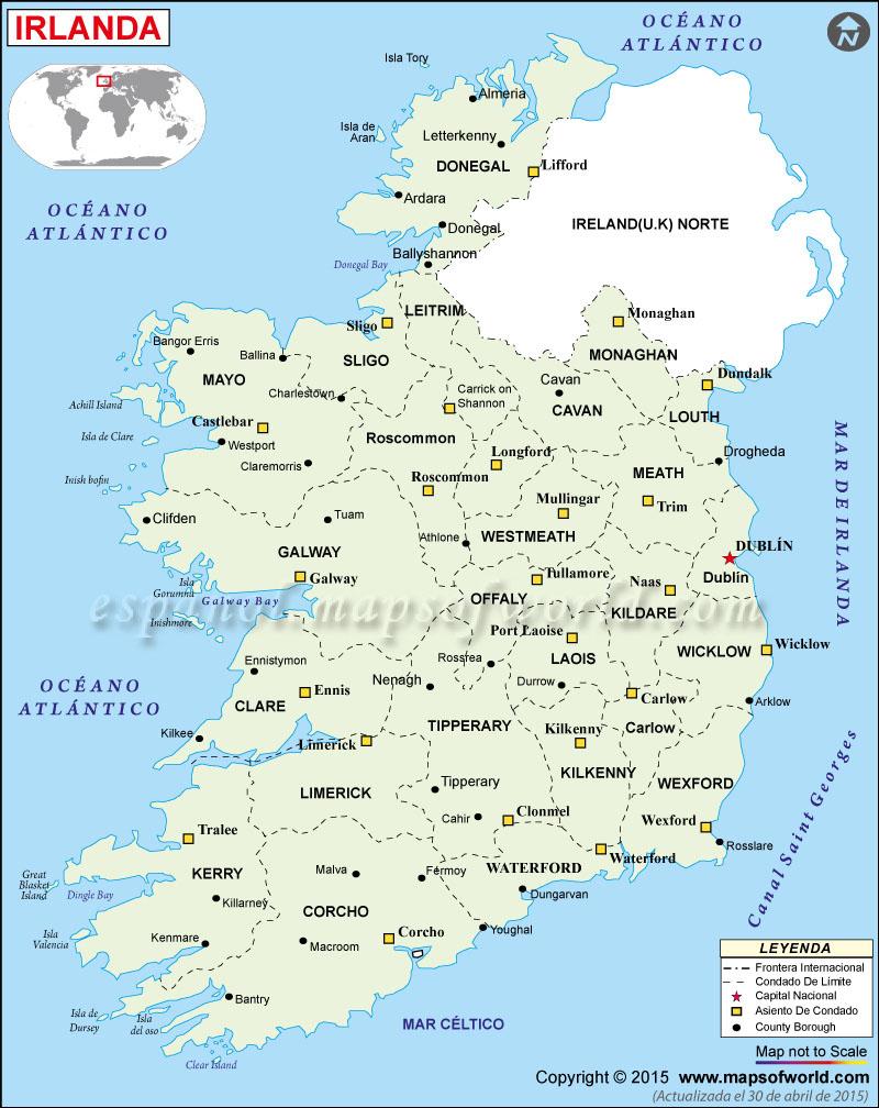 irlanda-mapa-político