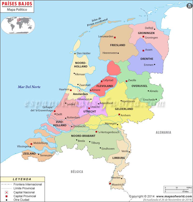 holanda mapa europa Países Bajos Mapa holanda mapa europa