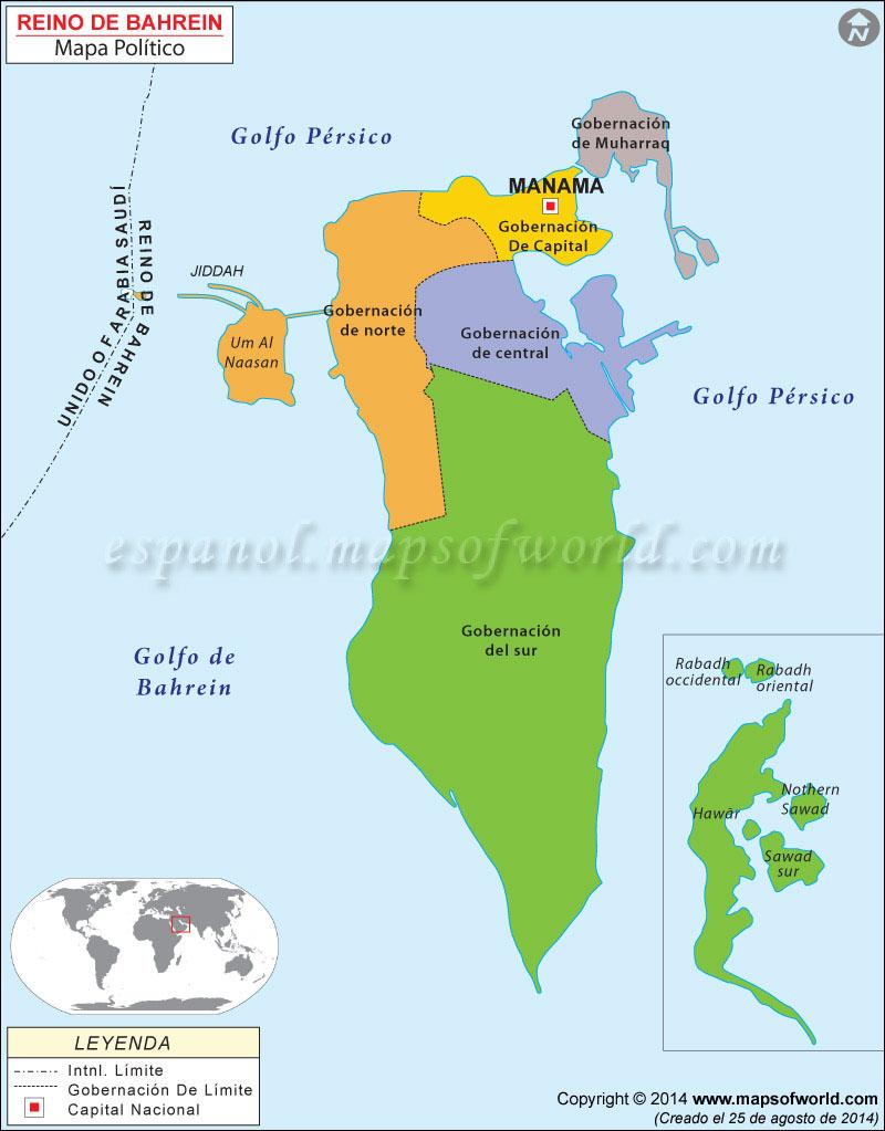 Bahrein Mapa