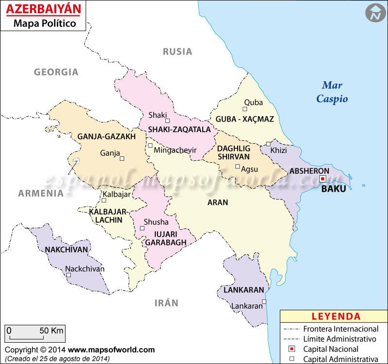 Azerbaiyán Mapa
