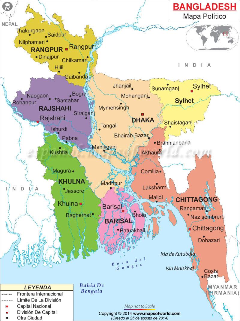 Bangladesh Mapa