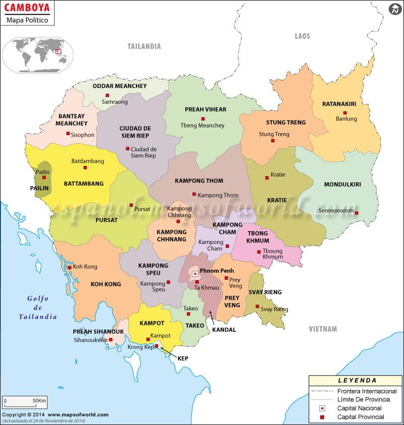 Camboya Mapa