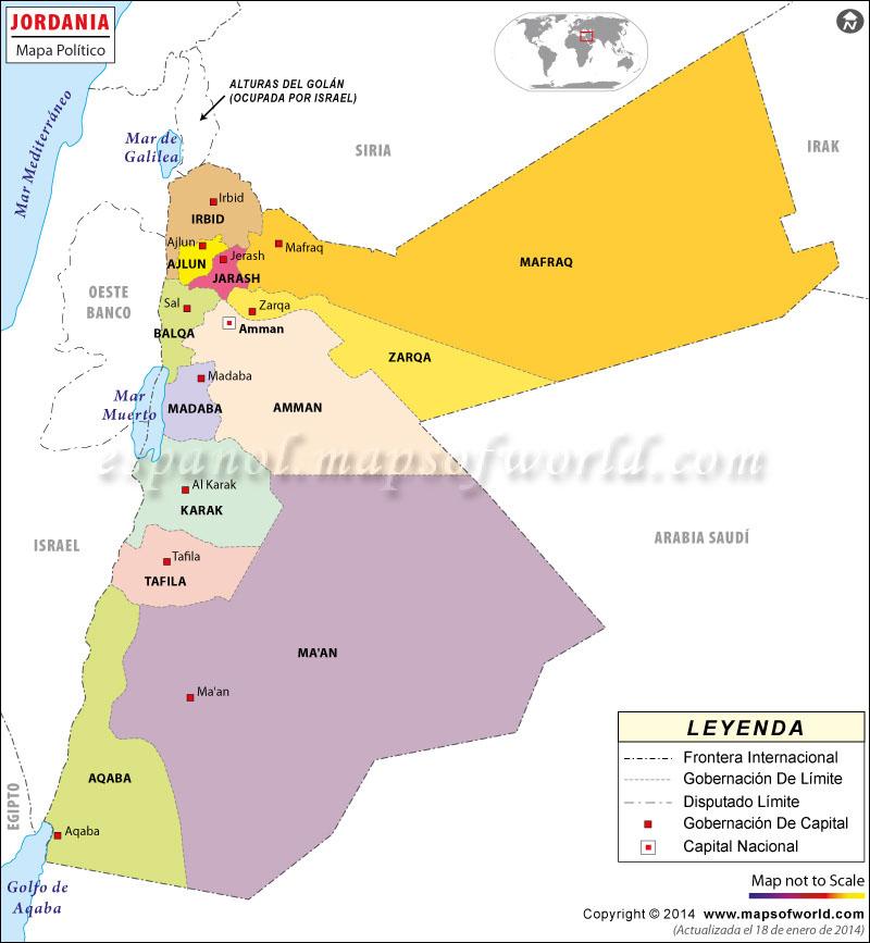 jordania mapa Jordania Mapa jordania mapa