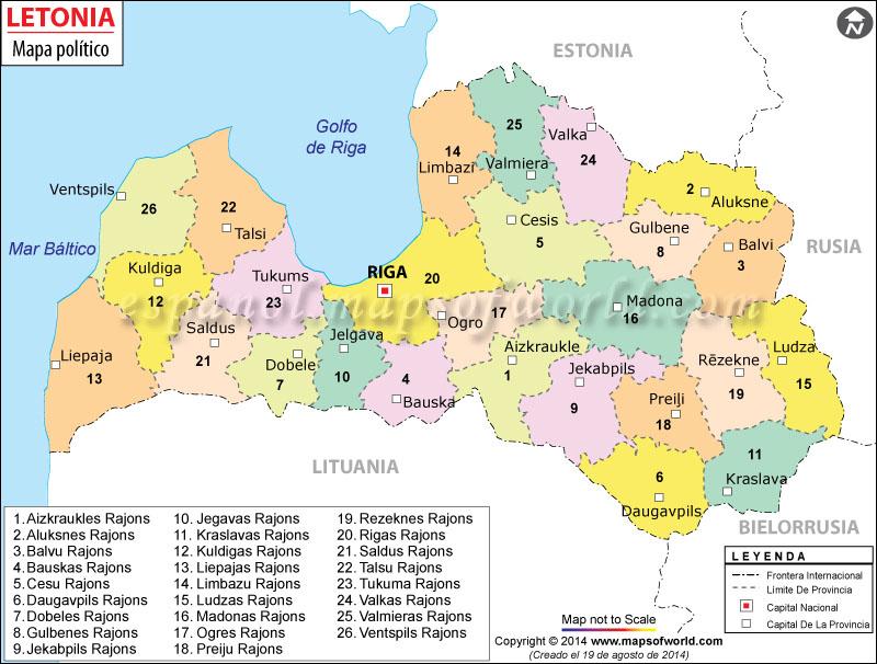 Letonia Mapa
