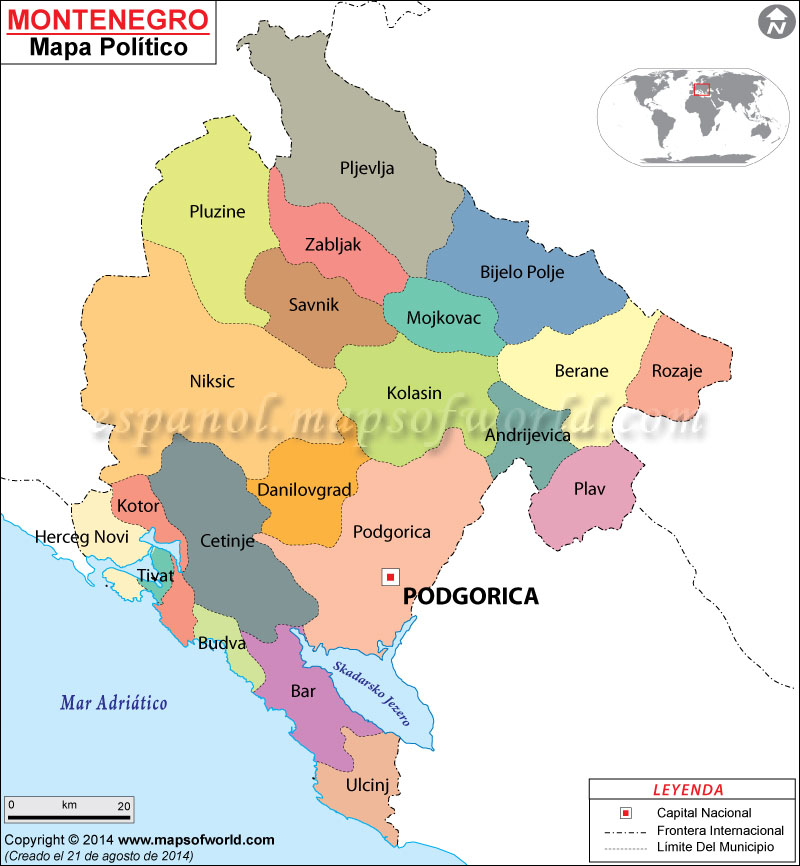Montenegro Mapa