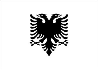 Blank Mapa de Albania