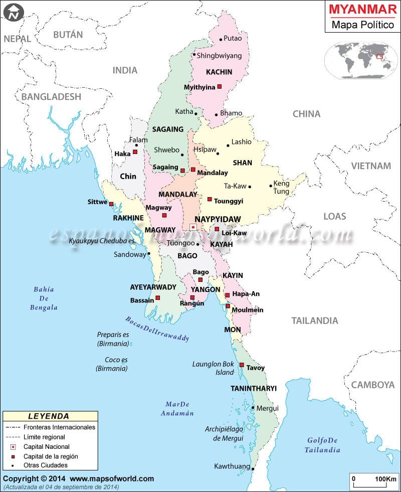 Myanmar Mapa