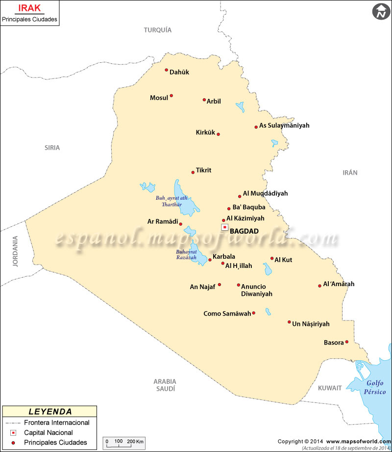 Ciudades en Irak