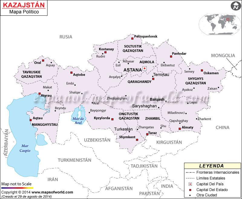 Kazajstán Mapa