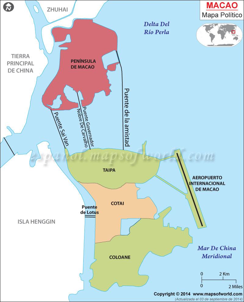 mação mapa Macau Mapa, Mapa de Macao mação mapa