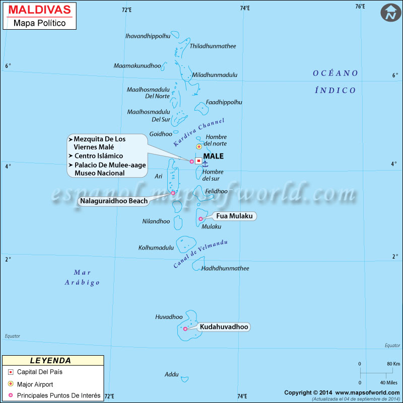 Maldivas Mapa