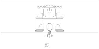 gibraltar-flag-outline