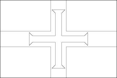 guernsey-flag-outline