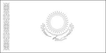 kazakhstan-flag-outline