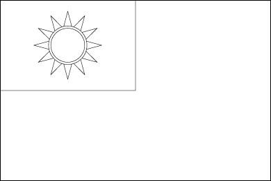 Bandera de taiw n for Taiwan flag coloring page