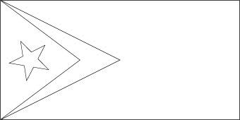 east-timor-flag-outline