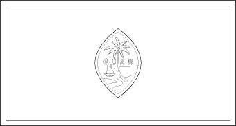 guam-flag-outline