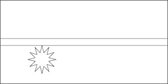 nauru-flag-outline