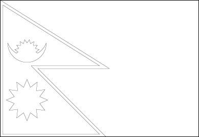 nepal-flag-outline