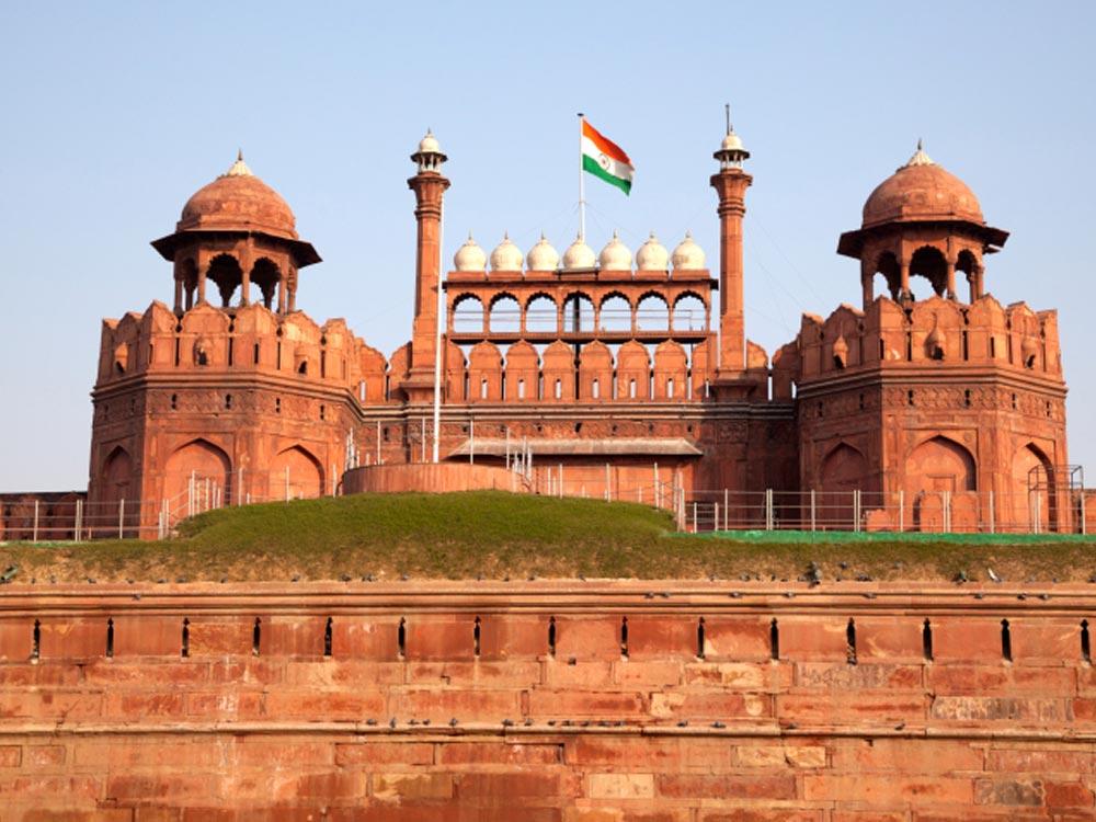 Fuerte Rojo en Delhi, India