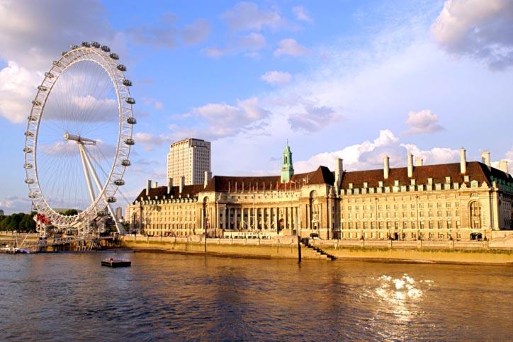 Ojo de Londres en el río Támesis, Inglaterra Reino Unido