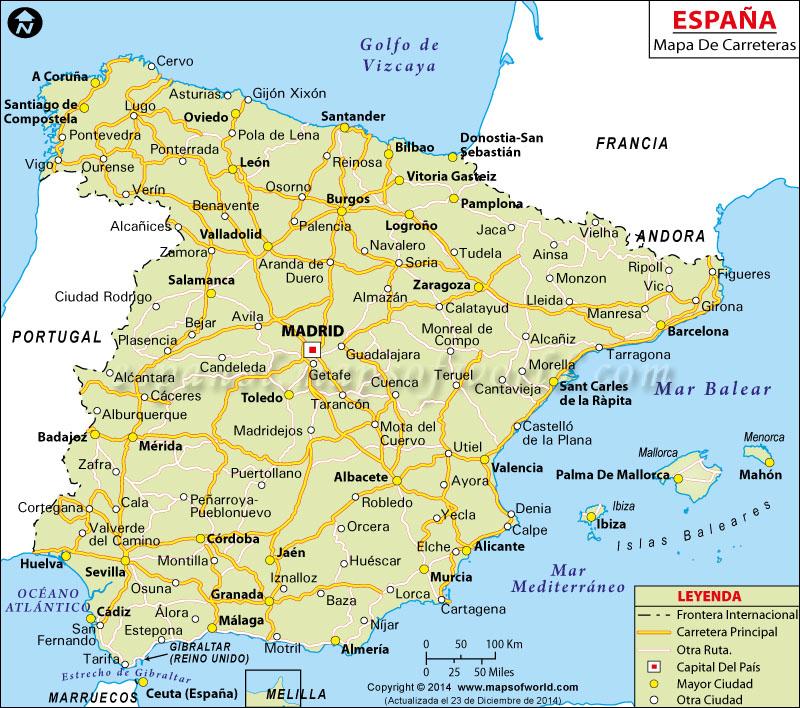 España Mapa de Ruta