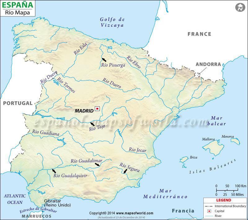 Espana Rio Mapa