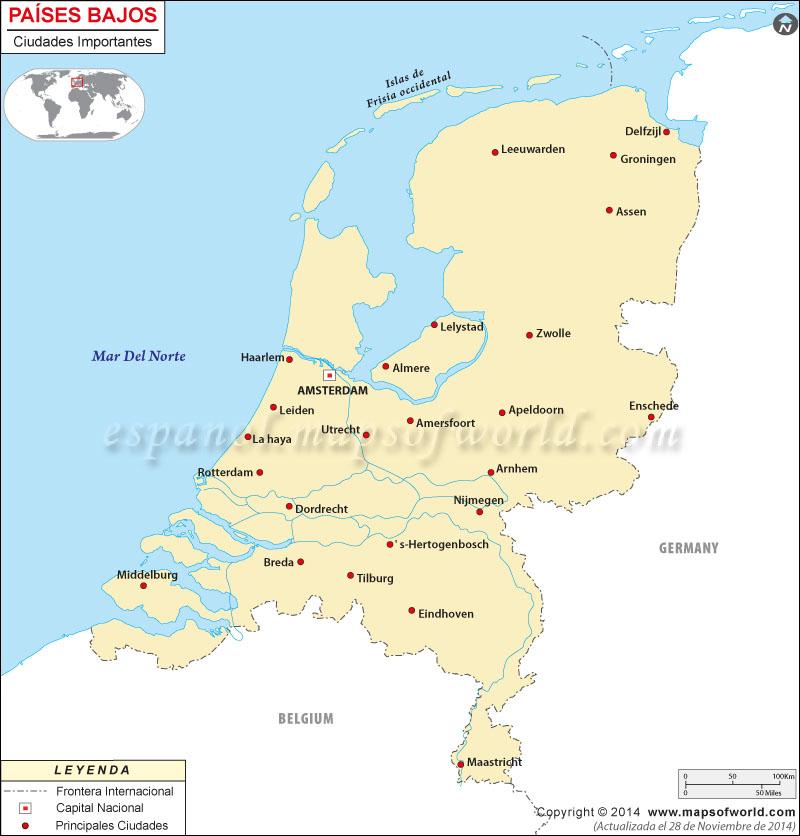 Ciudades en Países Bajos