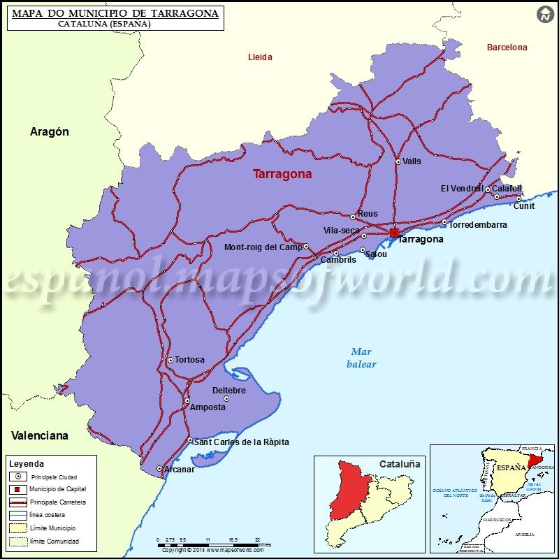 Tarragona Municipio Mapa