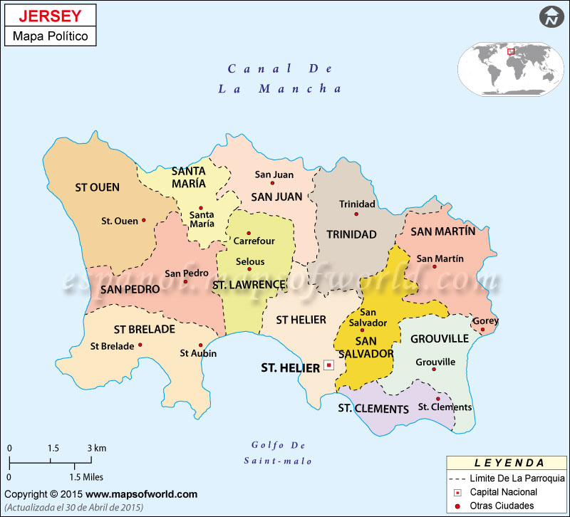 Jersey Mapa Político
