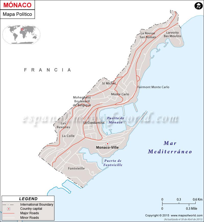 Mónaco Mapa Político