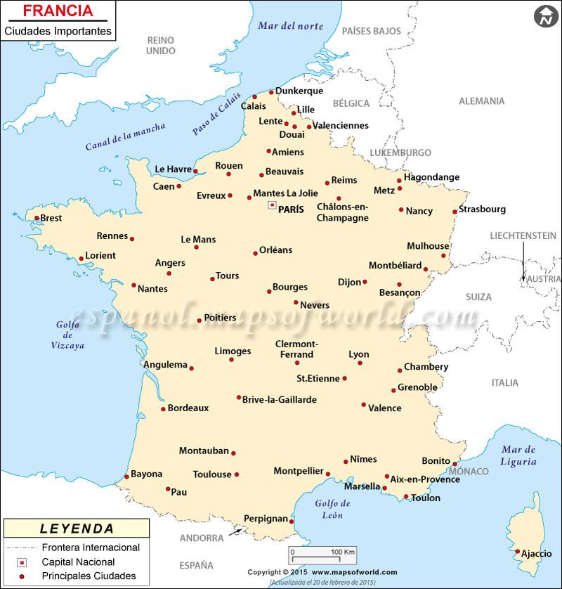 las principales ciudades de Francia