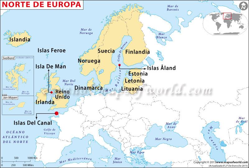 del Norte Mapa