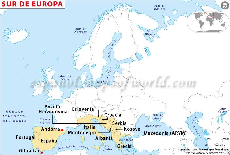 Europa del Sur Mapa