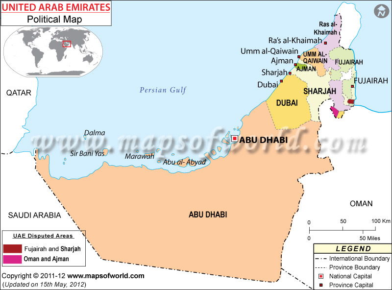 united-arab-emirates-political-map