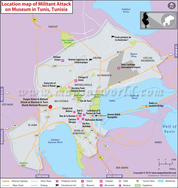 Mayhem golpeó el museo nacional en Túnez