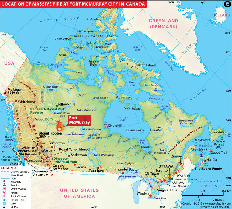 Canada wildfire map - News and Events on