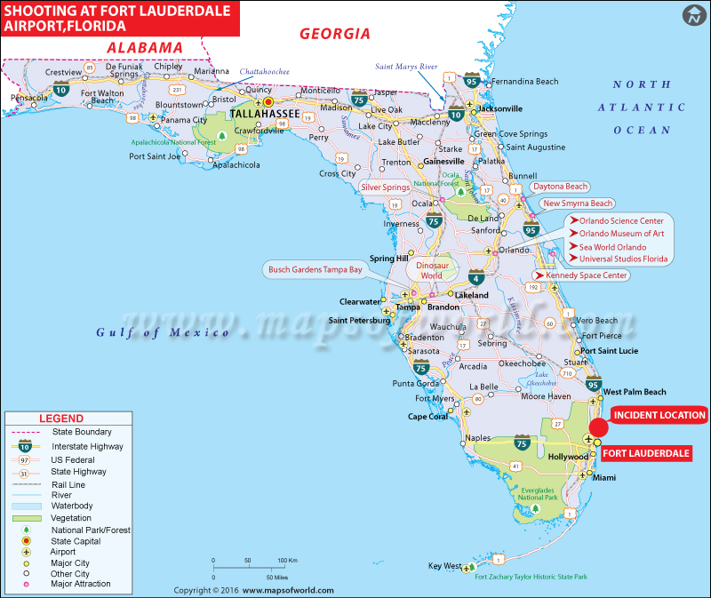 Florida Airport Map.Fort Lauderdale Airport Shooting